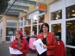 Solidaritätsaktion bei Bon Prix in Dortmund