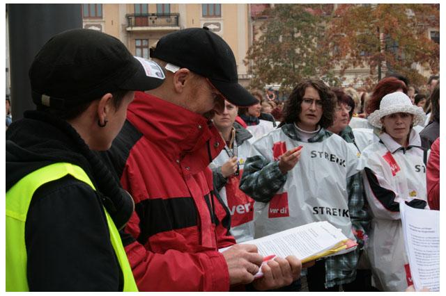 Demo am Marktplatz
