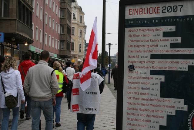Demonstration in Magdeburg