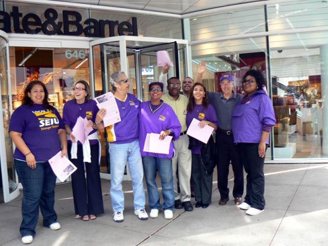 Solidaritätsaktion bei Crate & Barrel, Chicago 3